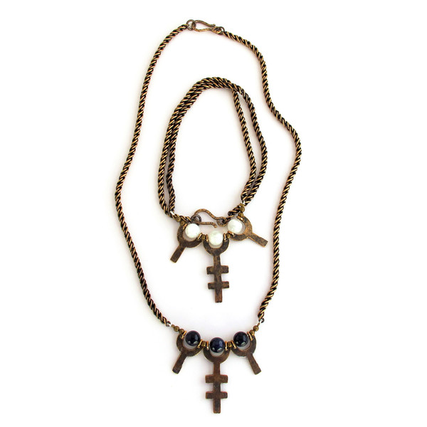 Triple Chalice Necklace