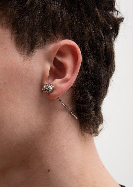 Alan Crocetti Rose Earring - Silver