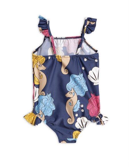 kids Mini Rodini Seahorse Wing Swimsuit - blue