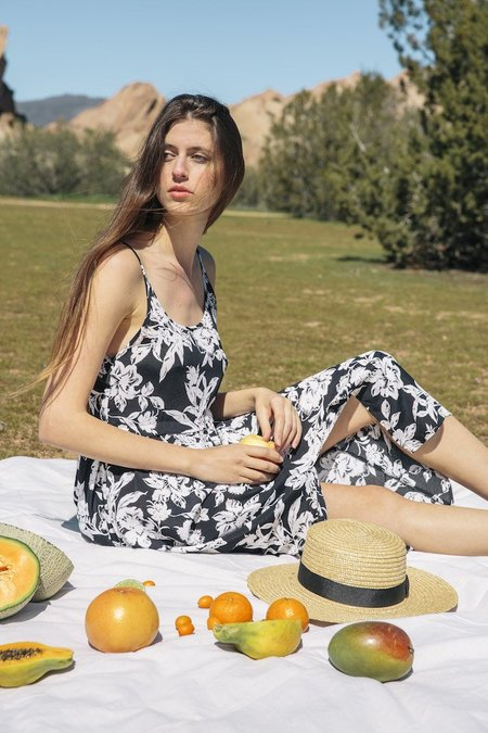 Whimsy + Row Jane Dress - Black Floral