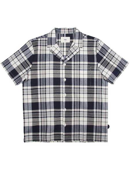 Folk Check Shirt - Navy/Ecru
