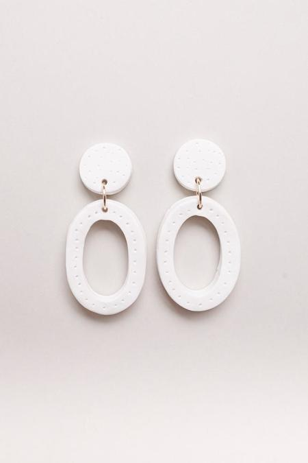 Peppertrain Jemma Earrings - White