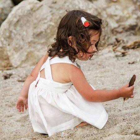 KIDS Petit Mioche peter pan collar dress - natural
