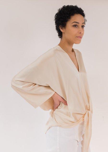 Miranda Bennett Kahlo Silk Charmeuse Top - Lennon
