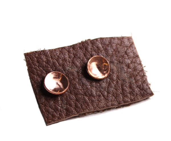 Sarah Dunn Concave Disc Studs Bronze Small
