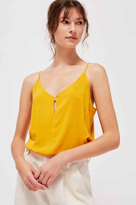 Lacausa Button Cami in Marigold