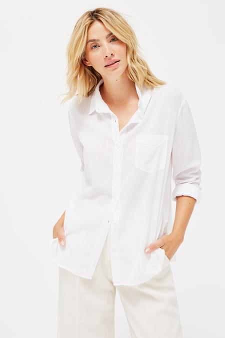 Lacausa Nash Button Up in Whitewash Super Fine Twill