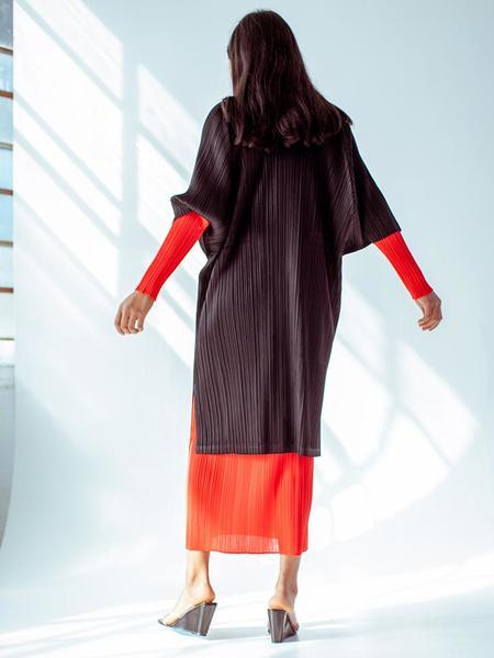 Issey Miyake Raglan Tunic Dress - Black