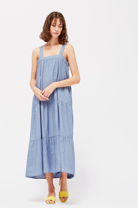 Lacausa Sunflower Dress in Chambray