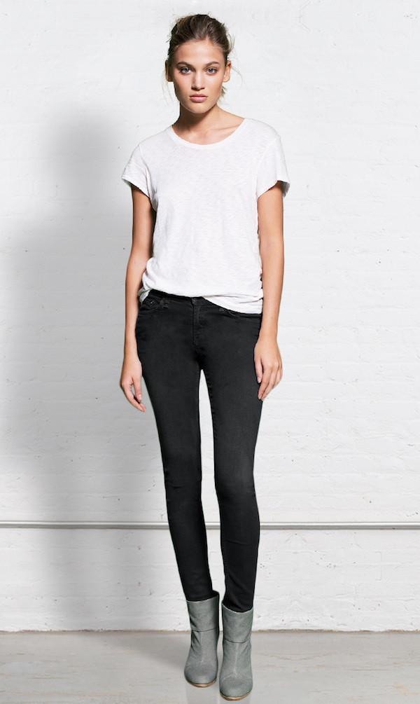 Rag & Bone Skinny Distressed Jeans