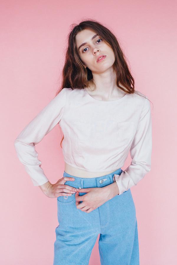 Samantha Pleet Pearl blouse - Blush