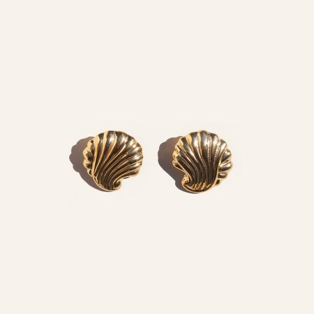 Gabriela Artigas Shell Earrings - Gold