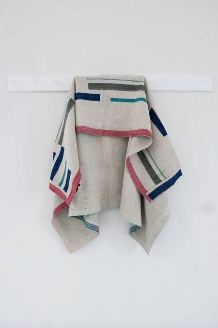 Karu Vintage Kantha Quilt - Abstract Stripes