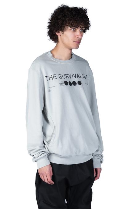 Tobias Birk Nielsen Semyon Serigraphy Sweatshirt - Light Grey