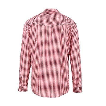 JohnUNDERCOVER Zip Edge Gingham Check Shirt - Red