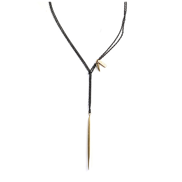K/LLER Collection Quill Lariat Necklace