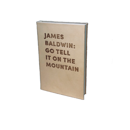 """Graphic Image, Inc """"GO TELL IT ON THE MOUNTAIN"""" by James Baldwin DEBOSSED LEATHER BOOK"""