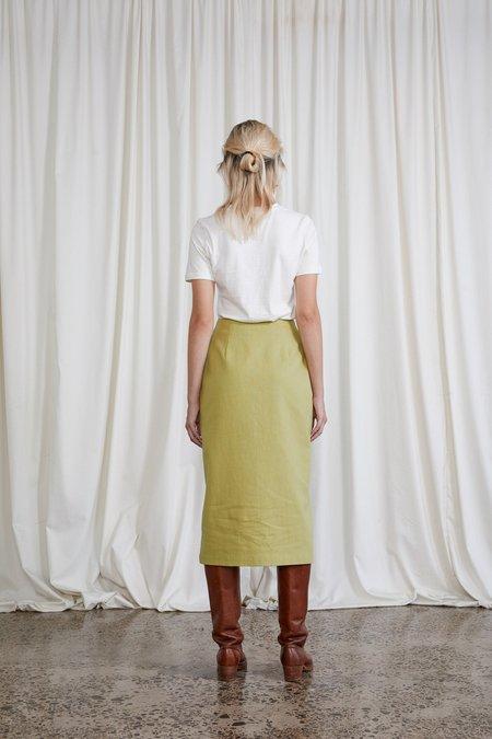 OVNA OVICH Saskia Hemp Organic Cotton Skirt - Avocado