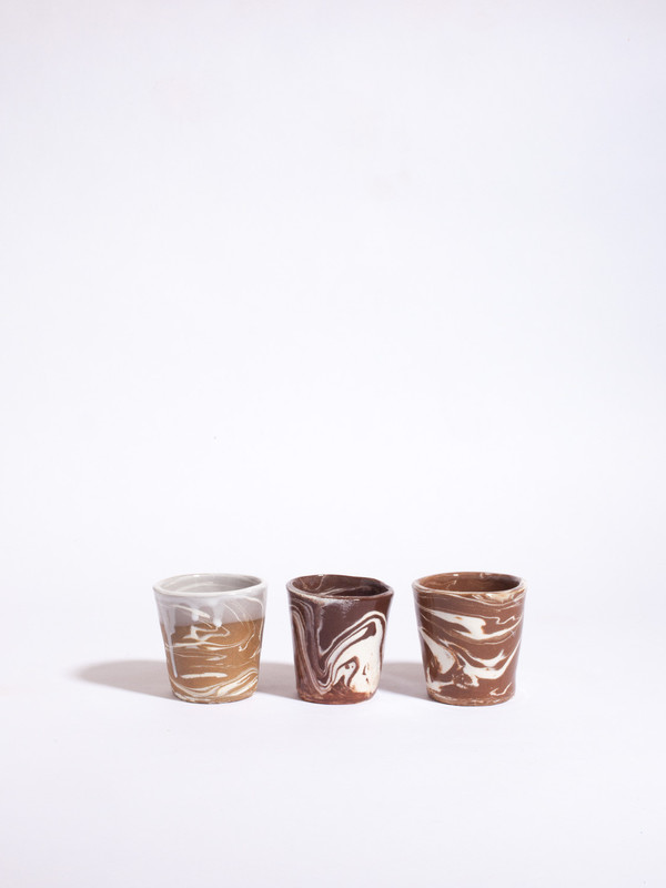 The Pursuits of Happiness Small Marbled Vessel Set