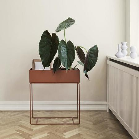 Ferm Living Plant Box Rectangle - Red Brown