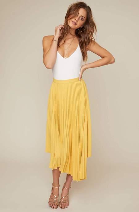ASTR The Label Elliot Skirt - Yellow