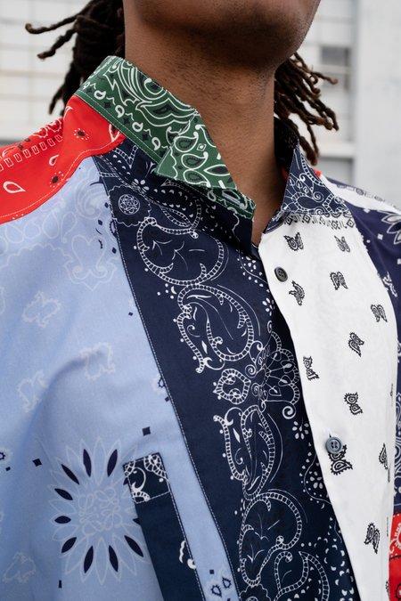 LOEWE Asymmetric Bandana Patchwork Shirt - Multi