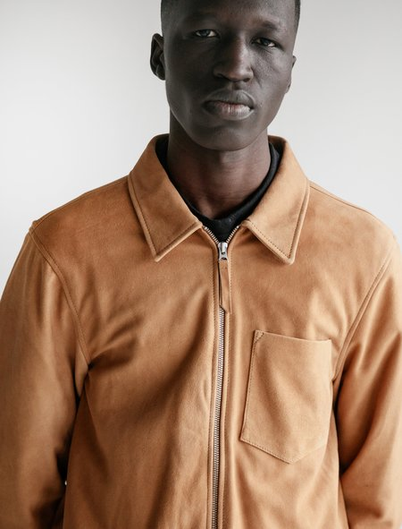 Our Legacy Suede Zip Shirt - Sand