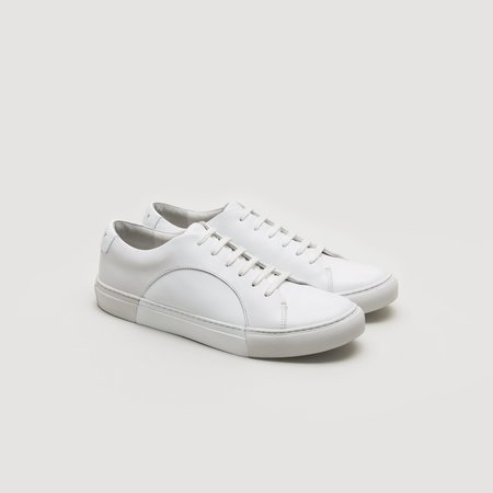 THEY Circle Low Sneaker - Off White/White