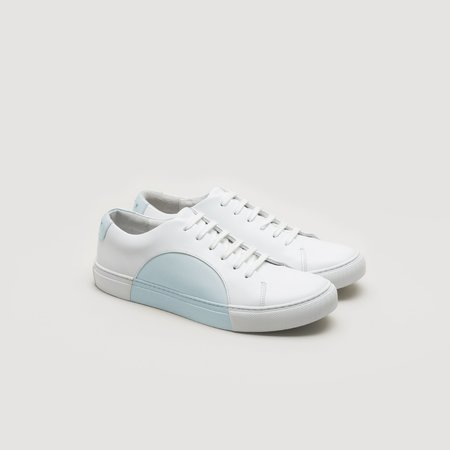 THEY Circle Low - White/Sky Blue