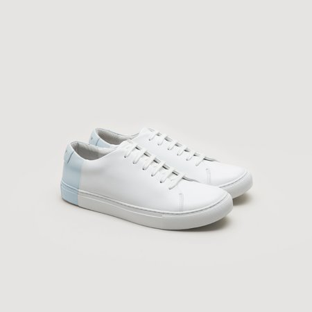 THEY Two-Tone Low - White/Sky Blue