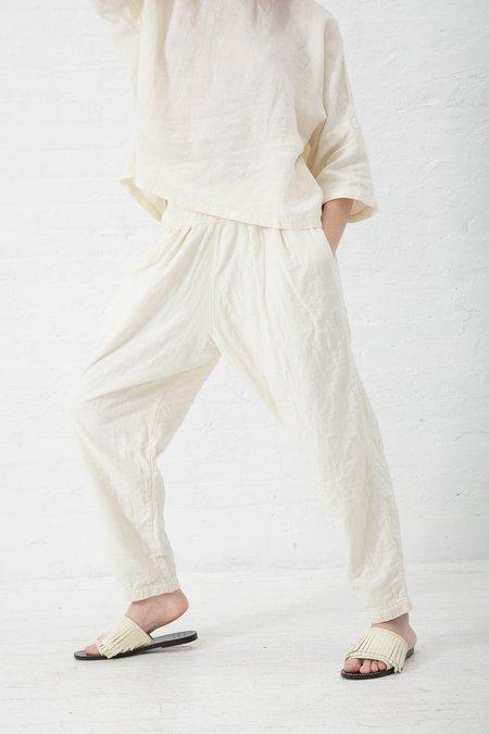 Black Crane Carpenter Pants - Cream