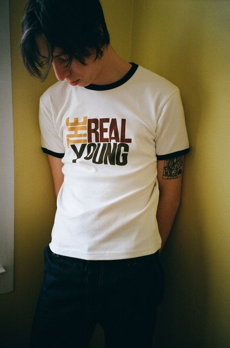 Unisex Carter Young Real Young Baby Tee - White