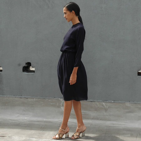 Nikki Chasin Isa Long Sleeve Dress- Navy