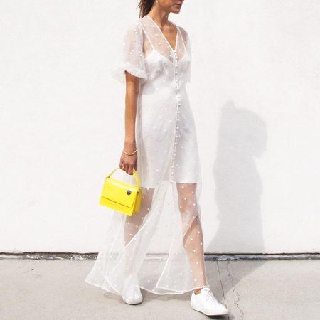 Olivia Von Halle Delphine Sheer Dress - Muse