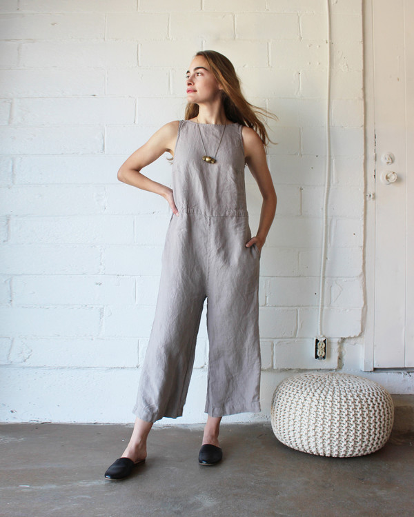 esby ALLISON CROPPED JUMPER - DRIFTWOOD