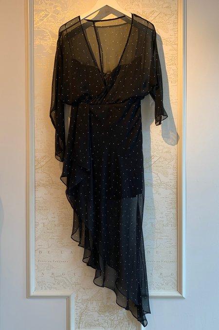 cb2e3697b5674 ... Michelle Mason Off The Shoulder Dress - Polka Dots
