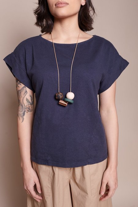 Peppertrain The Everyday Necklace - Green Disc