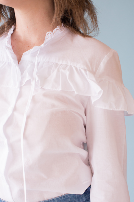 Side Party Brune Shirt - white