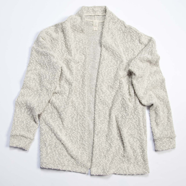 Pebble Knit Cardigan in White