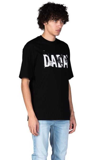 Christian Dada Logo Embroidered T-shirt - Black