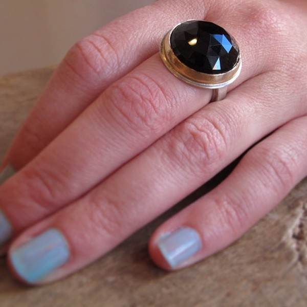 Jules Accessory Design Black Garnet Ring