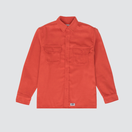 Dickies Construct L/S Button Down Jacket - Orange