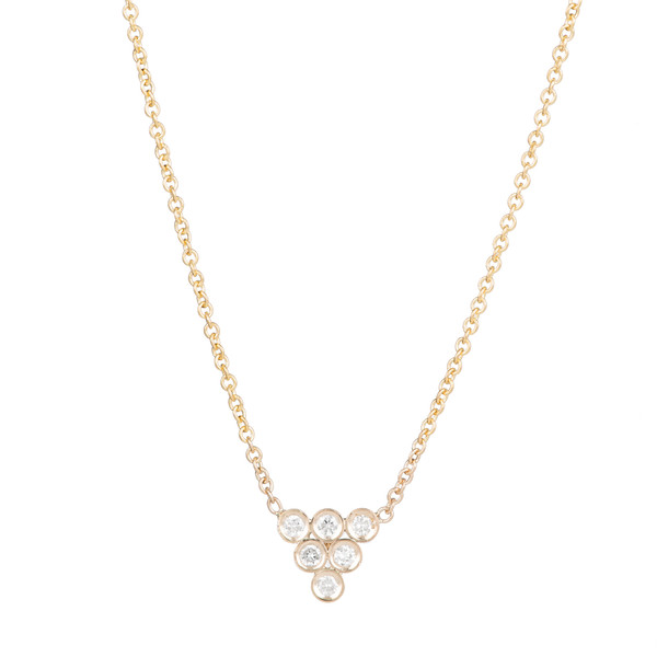 Ariel Gordon 14K Diamond Triad Necklace