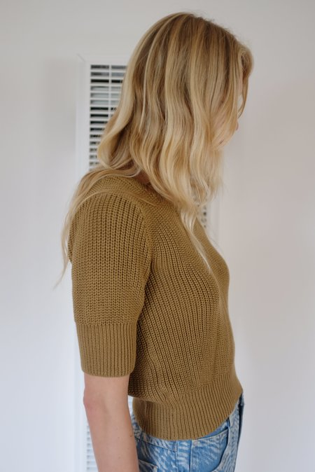 Beklina Hand Knit Story Top - Walnut