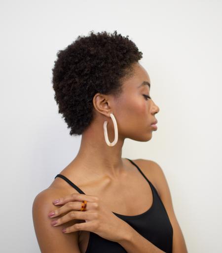 Machete Margot X Hoop Earrings - Peach
