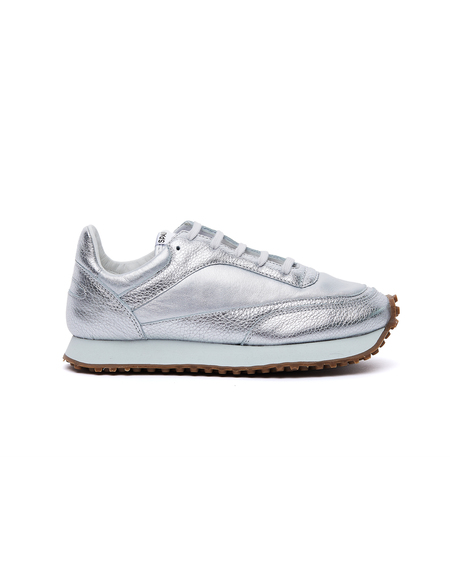 Comme des Garçons Tempo Low Leather Spalwart Sneakers - Silver
