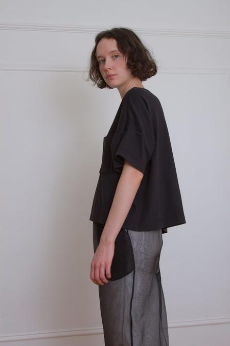 Suzanne Rae Boxy Pocket Tee - Black