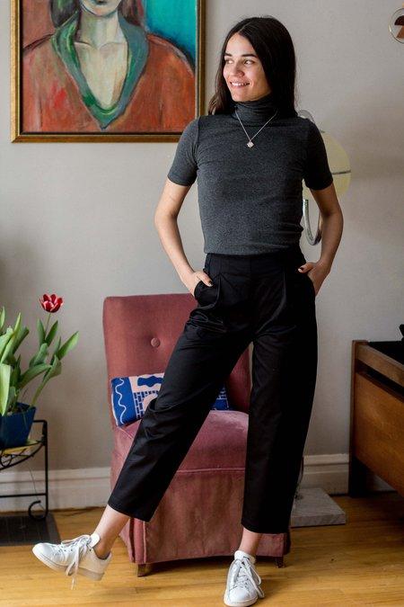 Amanda Moss Peggy Pants - Black Stretch Cotton