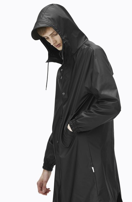 Unisex Rains Fishtail Parka - Black