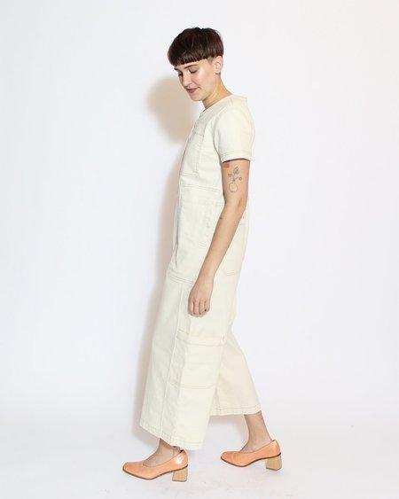 L.F.Markey Short Sleeve Boilersuit - Ecru